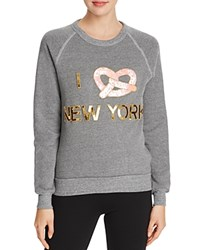 Bow And Drape The Boyfriend Pretzel Sweatshirt Light Grey