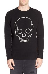 Men's Deus Ex Machina 'Skull' Intarsia Crewneck Sweater