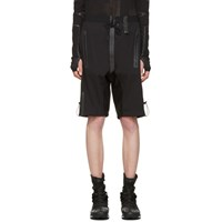 Y 3 Sport Black Rain Zip Shorts