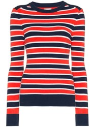Joostricot Striped Knitted Top Blue