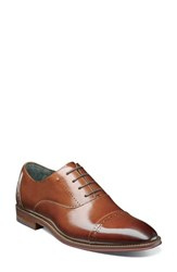 Stacy Adams 'S Barris Cap Toe Derby Cognac Leather