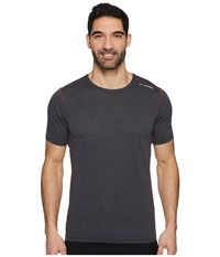 Brooks Ghost Short Sleeve Heather Black Workout