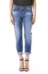 Level 99 Women's Sienna Stretch Distressed Ankle Cuff Jeans