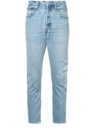 Icons Distressed Skinny Jeans Blue