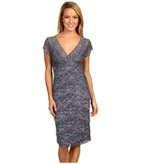 Rsvp Cassandra Lace Dress Gunmetal Women's Dress Gray