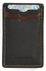 Trask 'Jackson' Card Case Black Norwegian Elk