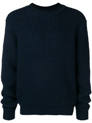 3.1 Phillip Lim Chunky Knit Sweater Blue