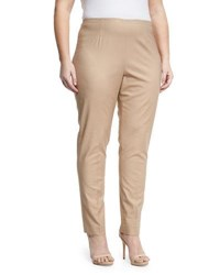 Nic Zoe Plus Perfect Side Zip Straight Leg Pants Mahogany