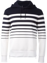 Neil Barrett Striped Hoodie Blue