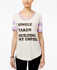 Mighty Fine Juniors' Building My Empire Graphic T Shirt Cream
