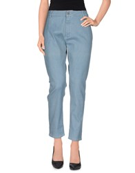 Superfine Denim Denim Trousers Women Blue