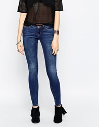 Noisy May Kate Super Low Rise Skinny Jean Blue