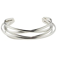 John Lewis Wired Open End Bangle Silver