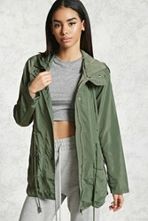 Forever 21 Hooded Drawstring Windbreaker