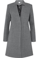 Milly Wool Blend Twill Coat Gray