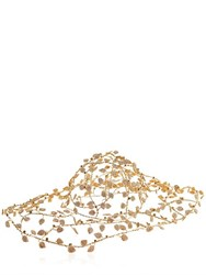 Vittorio Ceccoli Leafs Gold Plated Wire Hat