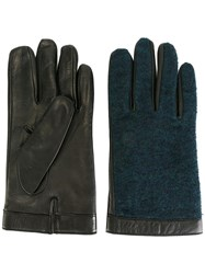 Canali Classic Gloves Blue