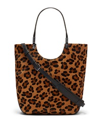 Cynnie Animal Print Calf Hair Shopper Bag Cognac Black Elizabeth And James