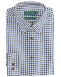 Double Two Men's Patterned Formal Shirt Green