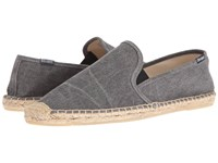 Soludos Smoking Slipper W Gore Dark Gray Men's Flat Shoes