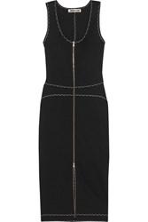 Mcq By Alexander Mcqueen Stretch Knit Midi Dress Black