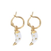 Aurelie Bidermann Caftan Moon Baby Horn Earrings