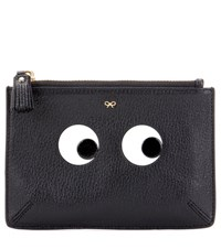 Anya Hindmarch Eyes Small Loose Pocket Leather Pouch Black