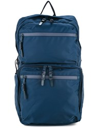 As2ov 210D Nylon Twill Square Backpack Blue