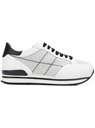 Hogan Embroidered Sneakers White