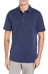 Tommy Bahama Men's Bark Pattern Spectator Polo Maritime