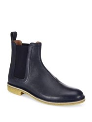 Bottega Veneta Empirenero Calf Skin Leather Chelsea Boots Navy