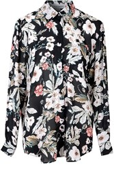 Alice And You Oversized Printed Shirt Black