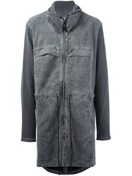 Lost And Found Rooms Zipped Parka Grey