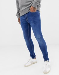 New Look Super Skinny Jeans In Blue Wash Bright Blue