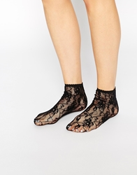 Jonathan Aston Sweet Roses Anklet Socks Black