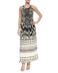 Camilla Printed Beaded Racerback Coverup Dress