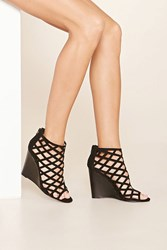 Forever 21 Faux Suede Cutout Wedges