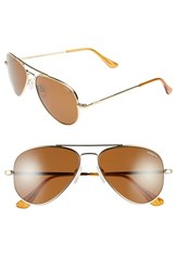 Women's Randolph Engineering 'Concorde' 57Mm Metal Aviator Sunglasses Gold Tan Polarized