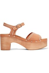 Sandro Audry Embroidered Leather Sandals It39