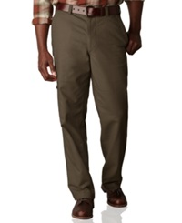 Dockers Big And Tall D3 Classic Fit Comfort Khaki Cargo Flat Front Pants Rifle Green