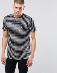 Criminal Damage Stripe T Shirt Black