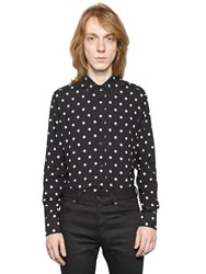 Saint Laurent Polka Dots Print Viscose Shirt
