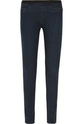 Helmut Lang Mid Rise Skinny Jeans Blue