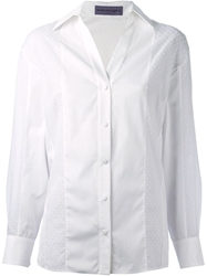 Emanuel Ungaro Bobble Detail Shirt White