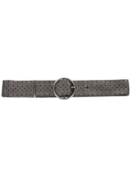Laura B Steel Buckle Belt Metallic