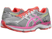 Asics Gel Exalt 3 Silver Pink Glow Flash Coral Women's Running Shoes Gray