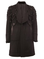 The Soloist Embroidered Panelled Coat Black