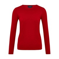 Viyella Bobble Wool Blend Jumper Red