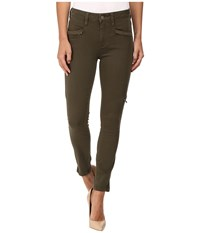 Paige Daryn Zip Ankle In Olive Leaf Olive Leaf Women's Jeans