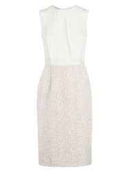 Hobbs Abbey Dress Ivory Nude